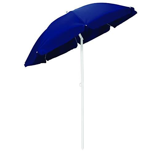 Picnic Time Portable Canopy Outdoor Umbrella, Navy