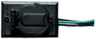 Acclaim 338BK Convenience Electrical Outlet Accessory for Lamp Post, Matte Black