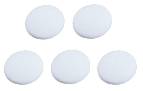Efbock Silicon Wall Protectors Self Adhesive Door stopper Door Handle Bumper Guard Stopper Rubber Stop (white 5pcs)