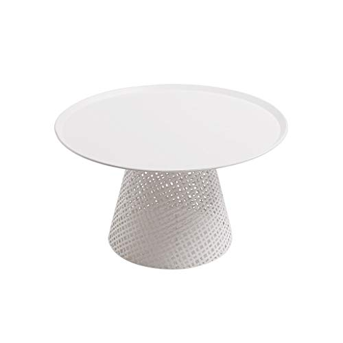 Iron Bijzettafeltjes Simple Modern Side Table Thuis Woonkamer Balkon Slaapkamer kleine salontafel Wit 25,6 x 13,77 x 13,77 Inches (Color : White, Size : 25.6×13.77×13.77 Inches)