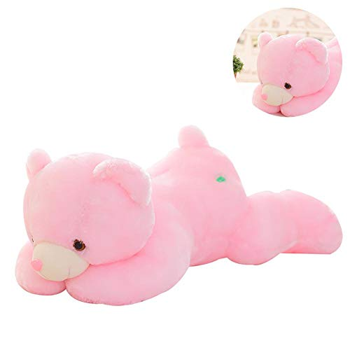 Blue-Yan LED Light Up Raccoon Toy - Soft Toy - Muscular Glow Light Pink