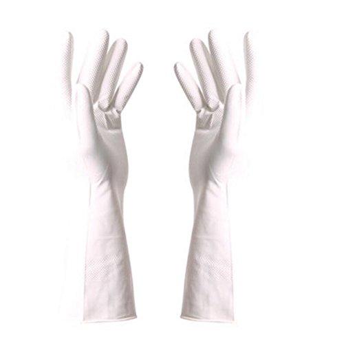 Gants Eté imperméables Gants de nettoyage vaisselles Gants -Blanc