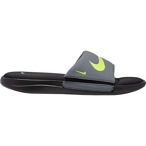 Nike Men's Ultra Comfort 3 Slides - Black/Volt-cool Grey
