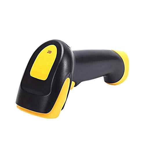 YoLiy Lecteurs de Codes Barres Portable sans Fil Portable 1D / 2D / QR Codes Barcode Scanner Scanner Universel avec Interface USB for Les Supermarchés Rapide Balayage Précis