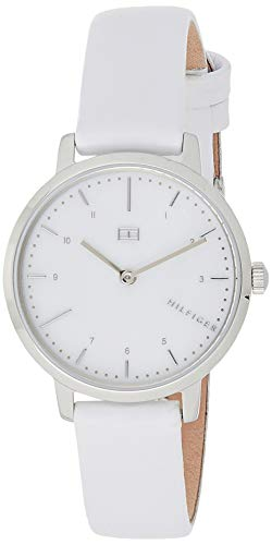 Tommy Hilfiger Damen Analog Quarz Uhr mit Leder Armband 1782037