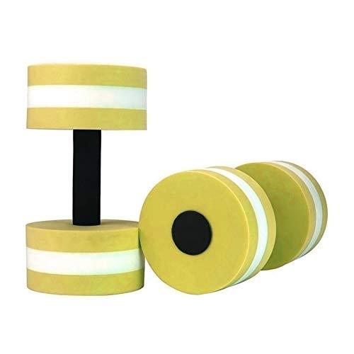 1 Par Aqua Fitness Barbells Espuma Mancuernas Barras De Manos Resistencia a La Piscina Ejercicio Equipos De Fitness Facultad De Mancuernas Edificio Corporal (Color : Yellow)