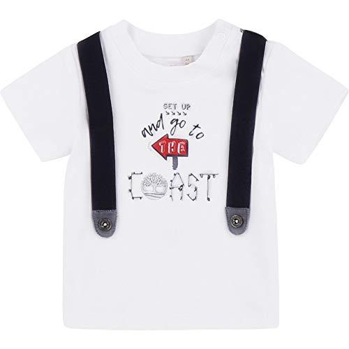 Timberland T-Shirt en Coton à Bretelles Bebe Couche Blanc 1MOIS