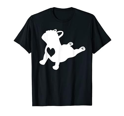 French Bulldog Yoga Pose Love Heart Frenchie Workout Gift T-Shirt