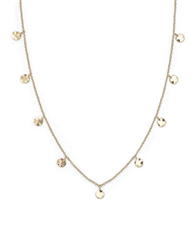Rosefield Damen Gemaserter Anhänger Halskette Gold JTCWG-J096