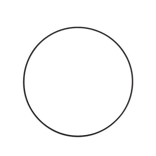 NaDeco Metallring schwarz beschichtet, wählbar in den Größen 20, 30,40 und 50cm Metallringe zum Basteln Drahtring zum Basteln Wickeltechnik Hoops Traumfänger Ring Makramee Ring, Größe:Ø40 cm