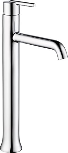 Delta Faucet Trinsic Vessel Sink Faucet, Single Hole Bathroom Faucet, Single Handle Bathroom Faucet Chrome, Diamond Seal Technology, Chrome 759-DST