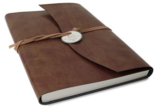 Life Arts Romano Italiano Cuaderno de piel reciclada, tamaño A4(23cm x 30cm)