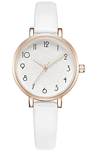 KDM Reloj Mujer Pulsera Moda Creativas Mujeres Relojes Impermeable Marca Reloj Mujeres Malla Vestido Reloj Blanco