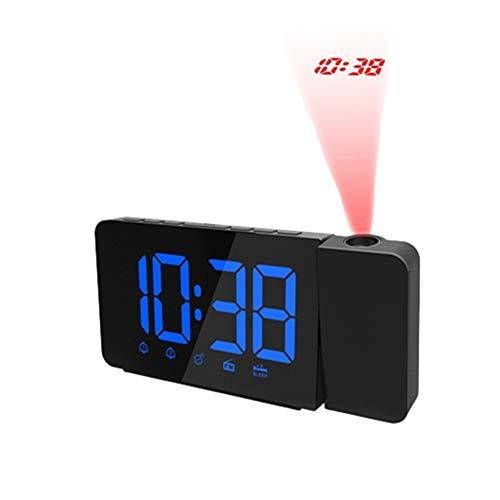 Shulishishop Reloj de Pared Digital Despertador fornite Reloj de Alarma Inteligente Los niños Reloj Reloj Despertador de proyección Blue