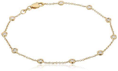 14k Diamond Strand Bracelet (1/2cttw, H-I Color, I2 Clarity)