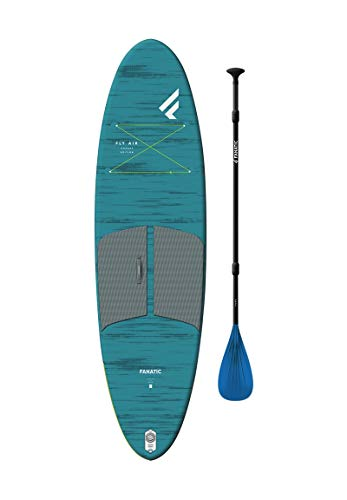 Fanatic Fly Air Pocket 10'4 SUP Stand Up Paddle Boarding Package - Pure Paddle - Unisex