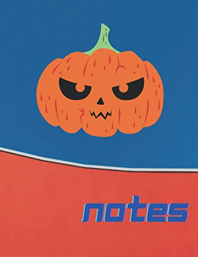 Notes: Halloween Composition Notebook, Bad Pumpkin, (110 Pages, Quad Ruled ( 8.5 x 11)