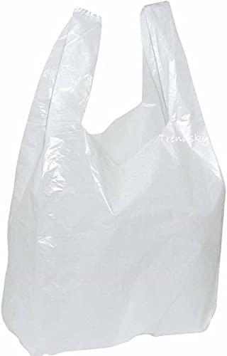 ZCENTER 120 uds Bolsas de Plástico Tipo Camiseta Resistentes, Tamaño 30x40 cm