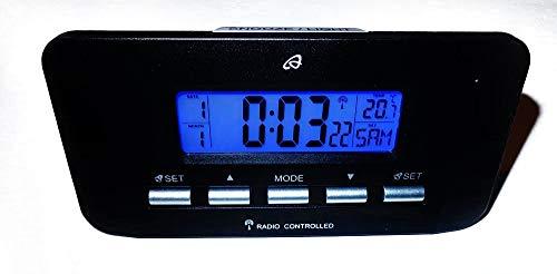 Auriol Funkwecker digital LCD Reisewecker Snooze Schlummerfunktion schwarz