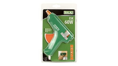 Pistola de Encolar SALKI - Aplicador de Silicona Caliente con Soporte. Compatible con Barras de Cola Termofusible de 11,5mm de Diámetro, Potencia de 60W, 240V