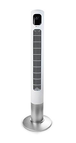 Air Naturel fantasy - Ventilatore a colonna oscillante 35 W, 220 V, 117 x 31,5 x 31,5 cm, colore: Bianco
