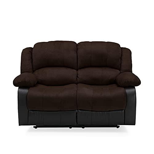 NHI Express Aiden Champion & PU Motion Loveseat (2 reclining seats), Brown