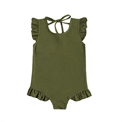 Baby Girl One Piece Swimsuit Off Shoulder Ruffled Flounce Bathing Suit Swimwear Beach Bikini