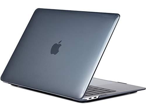 crystal black color hard case for MacBook Pro 15 inch model: A1707 A1990 (2019/2018/2017/2016) hard Laptop case RQTX –(bright black)