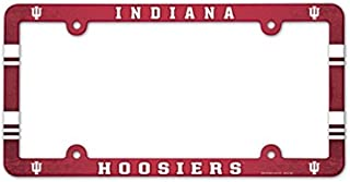 Wincraft NCAA University Indiana Hoosiers 6x12 inch Full Color Plastic License Plate Frame