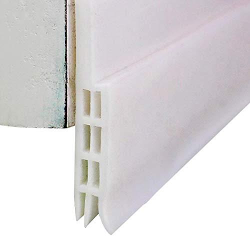 Weikeya unter Tür Dichtungsprofil Selbstklebend Abdichtung Klebeband für Türen Schallgedämmte Gummi Tür Unten Dichtung Streifen - 1 M (Weiß)