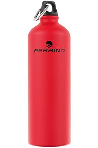 Ferrino Trickle Borraccia Alluminio, Rosso, 1 Lt.