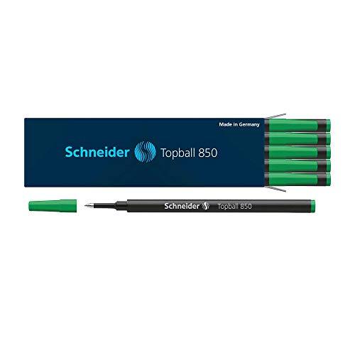 Tintenrollerminen Schneider Topball 850, 0,5mm, 10 Stück, Farbe:grün