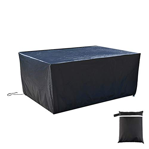 XGG Garden Furniture Covers Patio Furniture Covers Outdoor Sectional Furniture Set Covers, Waterproof Anti-UV Heavy Duty Oxford Fabric Rattan Chair Table Furniture Cover110.23 * 80.31 * 41.73in