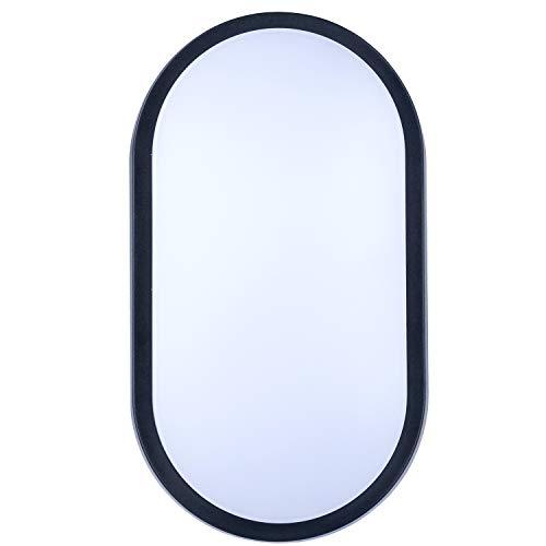 LUCECO EBEO10S40-01 - Aplique led ovalado negro/blanco