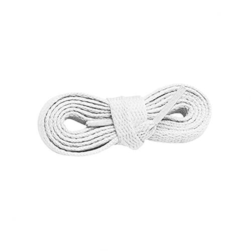 YUECI 2 Paar flache Schnürsenkel 8mm breite Schnürsenkel für sportliche Laufschuhe reißfest Hochwertige elastische Schnürsenkel Polyester für Sneakers Sportschuhe Laufschuhe Turnschuhe
