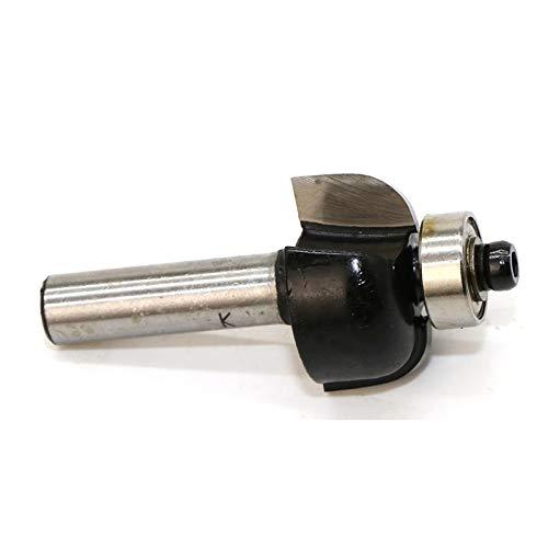 NO LOGO 1pc 8 mm de carburo de tungsteno Cove Ribete y molduras de Madera Router bit con la Tapa de cojinete 25 mm de Radio Redondeado de ángulos Molinos de Extremo (tamaño : As Show)