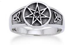 Sterling Silver shopping Faerie or Elven Star Knot Arlington Mall Celtic Sizes Ring and