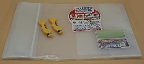 Office Box Lote 10 Forros Express Ajustables Transparentes para Libros 28 cms + 2 Estuches Minas Oso