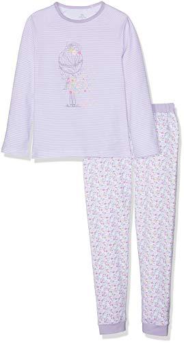 Chicco Chicco Baby-Mädchen Pigiama Manica Lunga Zweiteiliger Schlafanzug, Grün (Verde Rigato 053), 74 (Herstellergröße: 074)