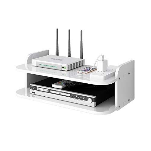 Estante de la caja de TV flotante, montaje en pared Caja de montaje enrutador Soporte del enrutador Reproductor de DVD Player, estantes flotantes multiusos para componentes de TV Caja de cables Materi