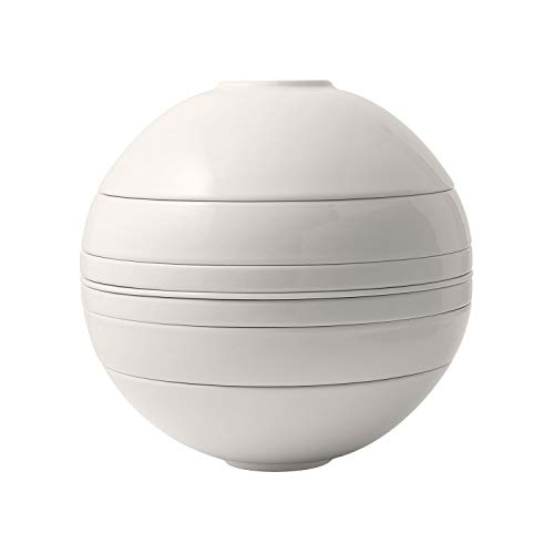Villeroy & Boch - Iconic La Boule, Geschirr-Designobjekt mit aufregender Oberfläche, Premium Porzellan, spülmaschinengeeignet, weiß