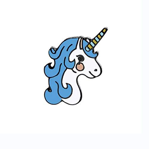 Insignia de unicornios Dibujos animados Pegasus Unicornio Alpaca Broches de compilación Alfileres...