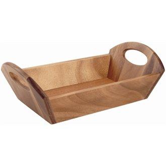 T&G Woodware dl146Brotkorb, Akazienholz, 98mm H x 310mm W x 180mm D