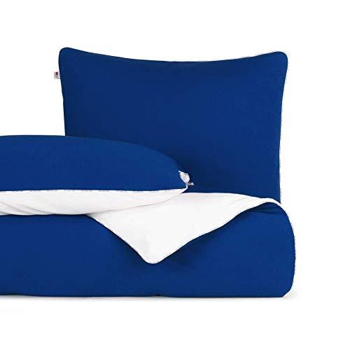 Tommy Hilfiger Juego de cama (200 x 200 cm + 2 x 80 x 80 cm), color azul