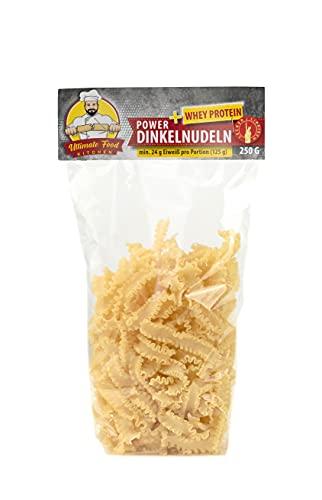 Ultimate Food Kitchen Power Dinkel + Whey Protein High Protein Dinkelgrieß Pasta Whey Protein Nudeln BRANDNEU Einzigartig (4x250g)