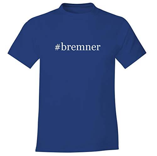 #bremner - Men's Soft Comfortable Hashtag Short Sleeve T-Shirt, Blue, X-Large