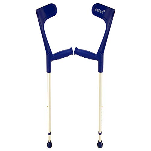 Krücken Blau Paar Klassiker 140 Kg Unterarmgehstütze von Ossenberg mit Ergo Softgriff Gehhilfe Pulox-Design