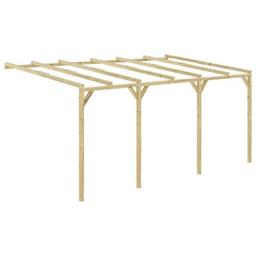 vidaXL Pérgola cobertizo de madera 5x3x2,1 m