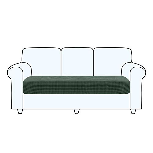 TAOCOCO Fundas de cojín para sofá,Protector de cojín de Asiento de Tela de poliéster de Alta Elasticidad (Verde Oliva, 3 Asientos)