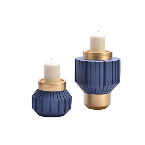 Afairy Decorative Candles Set of 2 Plastic Candle Holder Home Decoration Candle Holder Used for Wedding Decoration Table Center Accessories (Color : Purple)